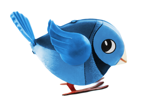 Clockwork Twitter bird