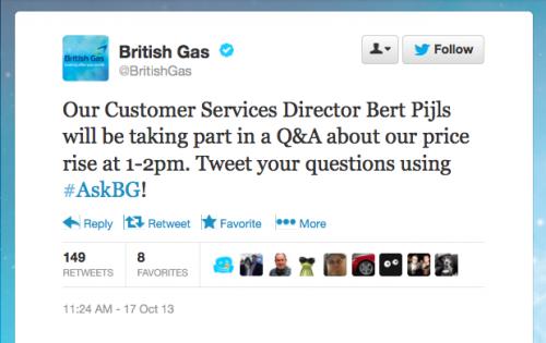 British Gas Twitter Q&A